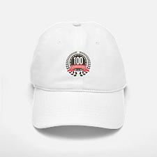 100 Years Anniversary Laurel Badge Baseball Baseball Cap