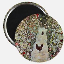 Garden Path with Chickens by Klimt Magnets