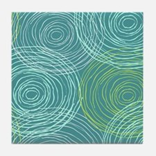 Tropical Swirl Tile Coaster