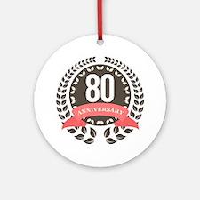 80 Years Anniversary Laurel Badge Ornament (Round)