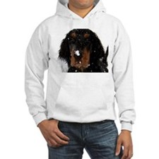 Gordon Setter Pup: Fun in the Snow Hoodie