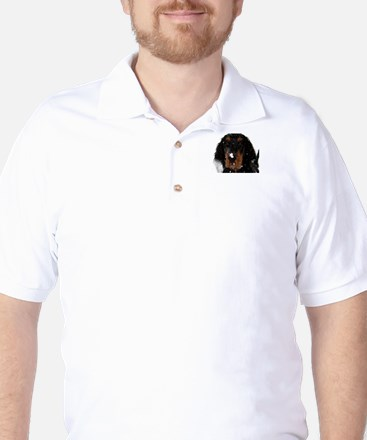 Gordon Setter Pup: Fun in the Snow Golf Shirt