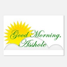 Good Morning, Asshole Postcards (Package of 8)