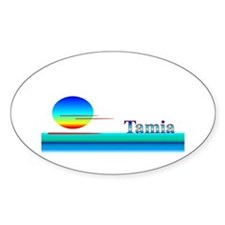 Tamia Oval Decal