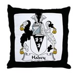 Halsey Family Crest Throw Pillow