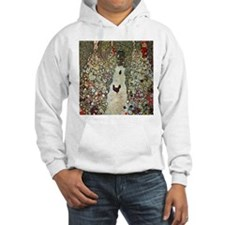 Garden Path with Chickens by Kli Hoodie