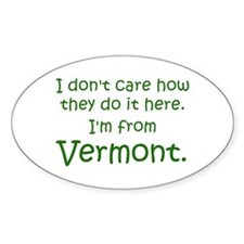 From Vermont Oval Decal