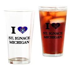 I love St. Ignace Michigan Drinking Glass