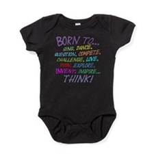 Unique Girl power Baby Bodysuit