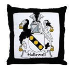 Hallewell Family Crest Throw Pillow