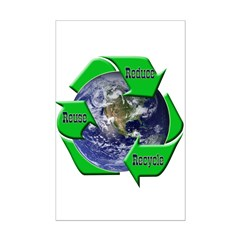 Reduce Reuse Recycle Earth Posters