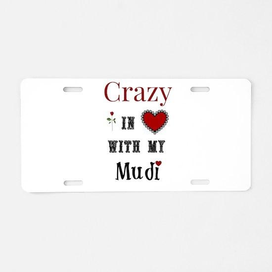 Mudi Aluminum License Plate