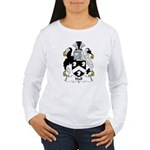 Hall Family Crest  Women's Long Sleeve T-Shirt