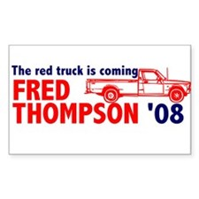 Red Truck Rectangle Decal
