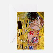 The Kiss detail, Gustav Klimt, Vint Greeting Cards