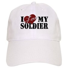 I Love My Soldier Baseball Cap