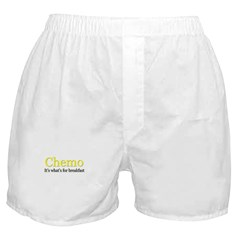 'Chemo, it's what's for breakfast' Boxer Shorts