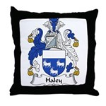 Haley Family Crest Throw Pillow