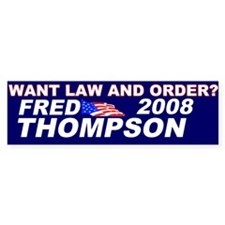 Law and Order Bumper Bumper Sticker