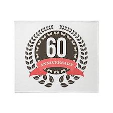 60 Years Anniversary Laurel Badge Throw Blanket