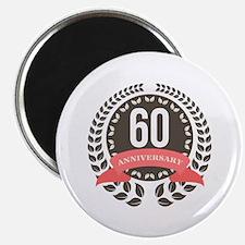 60 Years Anniversary Laurel Badge Magnet
