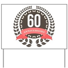 60 Years Anniversary Laurel Badge Yard Sign