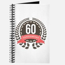 60 Years Anniversary Laurel Badge Journal