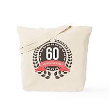 60 Years Anniversary Laurel Badge Tote Bag