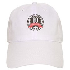 60 Years Anniversary Laurel Badge Baseball Cap