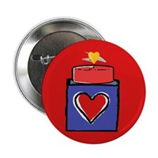 Hearts Aflame Button