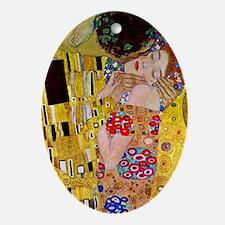 The Kiss detail, Gustav Klimt, Vin Ornament (Oval)