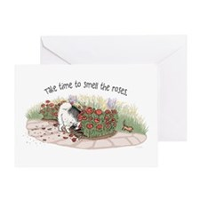 The Fuzz Butt Gardener Greeting Card
