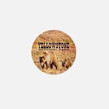 Yellowstone National Park Gri Mini Button