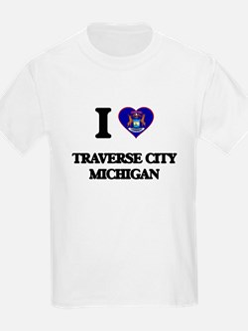 I love Traverse City Michigan T-Shirt