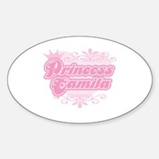 """Princess Camila"" Oval Decal"