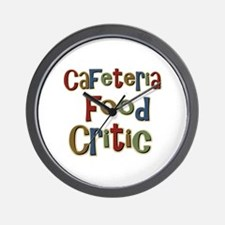 Funny Cafeteria Food Critic School Wall Clock
