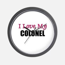 I Love My COLONEL Wall Clock