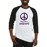Social work peace love Baseball Tee