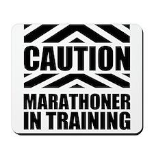 Marathoner In Training Mousepad