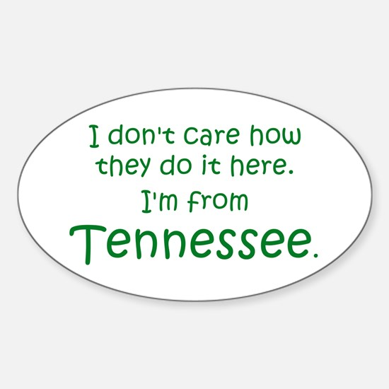 From Tennessee Oval Decal