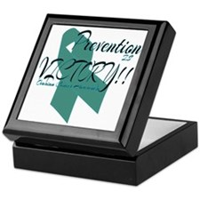 Prevention is Victory!! Ovarian Cance Keepsake Box