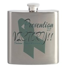 Prevention is Victory!! Ovarian Cancer Flask