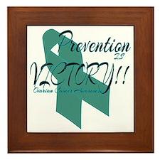 Prevention is Victory!! Ovarian Cancer Framed Tile