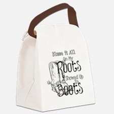 Blame it All on My Roots Canvas Lunch Bag