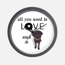 All You Need Is Love and a Dog Wall Clock