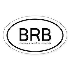 Epicrates Cenchria Cenchria Sticker (oval)