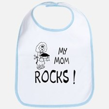 My Mom Rocks ! Bib