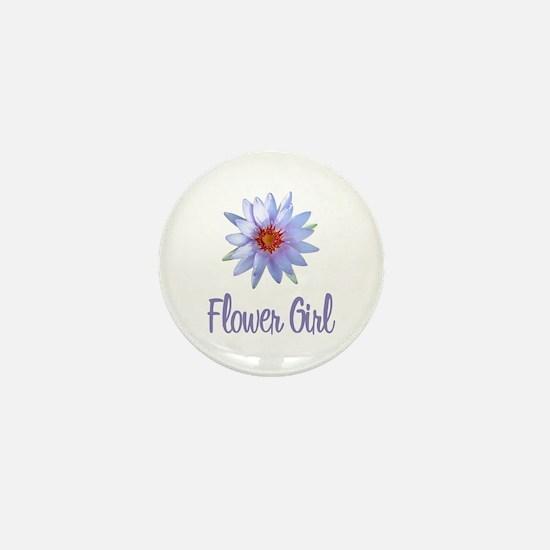 Lotus Flower Girl Mini Button