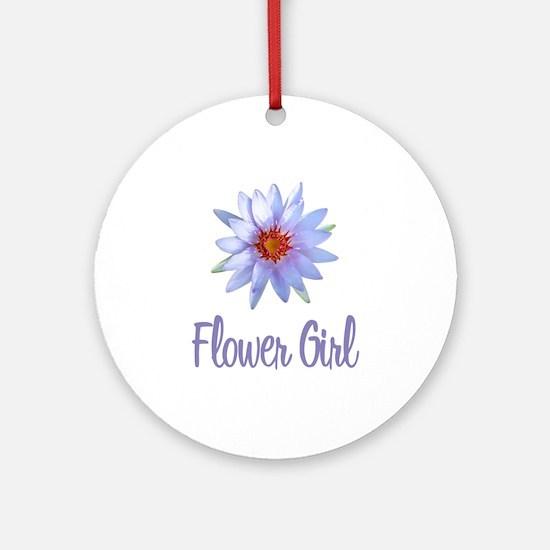 Lotus Flower Girl Ornament (Round)