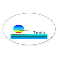 Tania Oval Decal